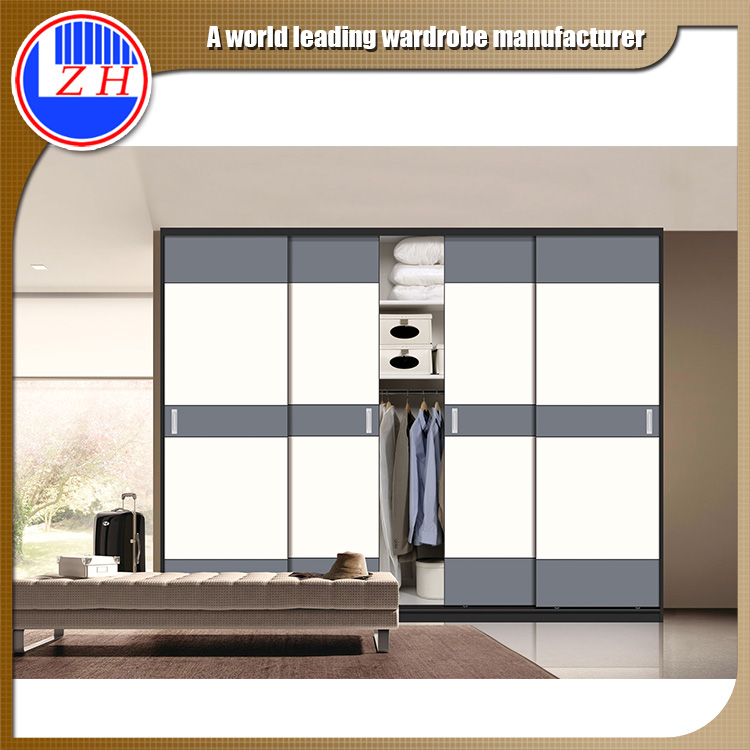 melamine MDF plywood particle board assembled style fabric simple design bedroom sliding door wardrobe closet design