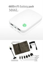 M66L- Dual USB Mobile Power Pack, 24.5WH