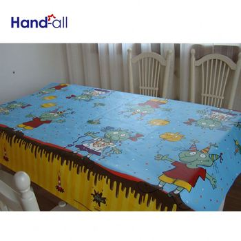 Bottom Price 1 To 6 Colors Printed Banquet Woodpulp Table Cloths Wholesale