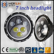 High Low Beam Halo 7 inch round led headlight for offroad, 7 inch led headlight with angle eyes case for Jeep Wrangler
