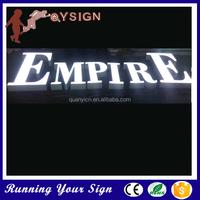 DIY design stainless steel sign light cheap kind of lettering