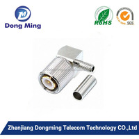 L9 male right angle coaxial connector for cable antenna