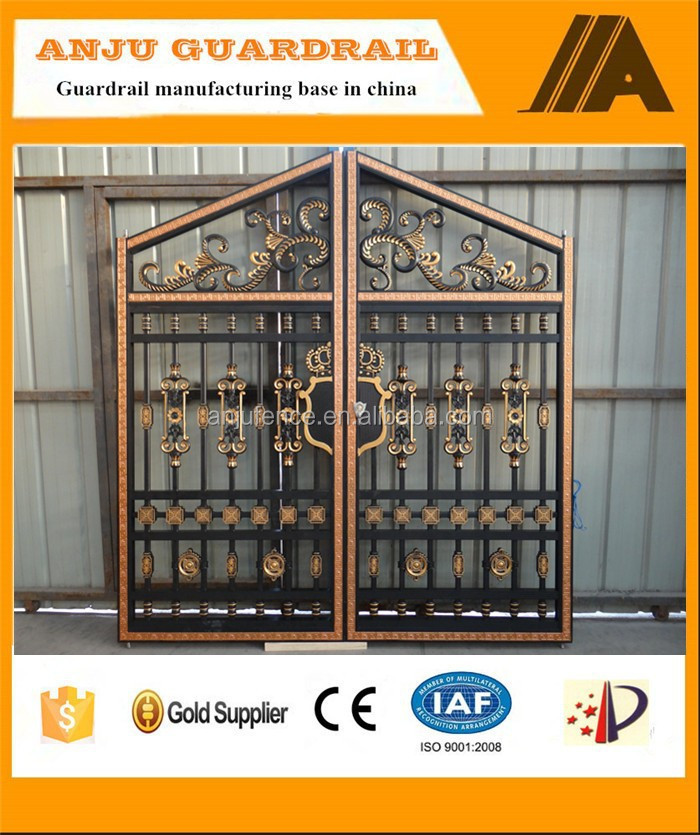 AJLY-608 2015 New kinds of Aluminum main gate designs for home