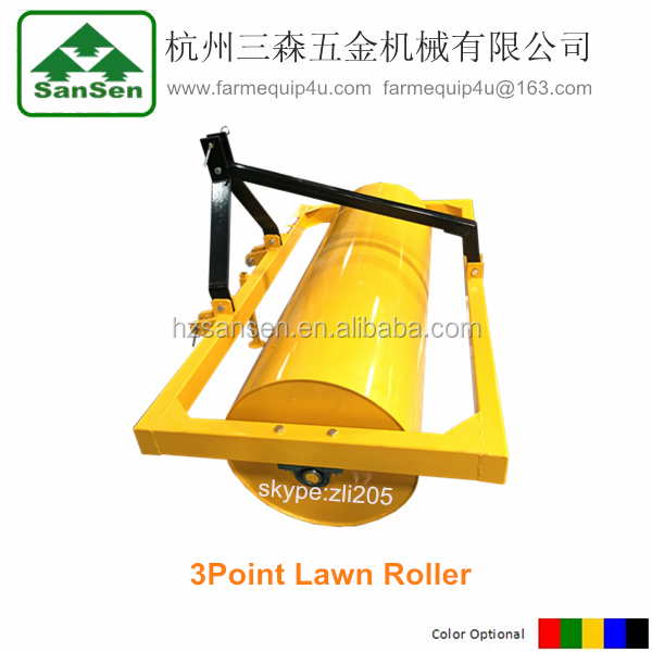 Land Ballast Roller Tractor 3point linkage, 3pt implements lawn roller ,soil compactor