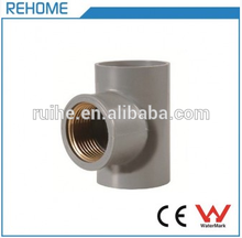 PVC Reducing Tee/Y Tee Pipe Fitting Female Copper Threaded Tee