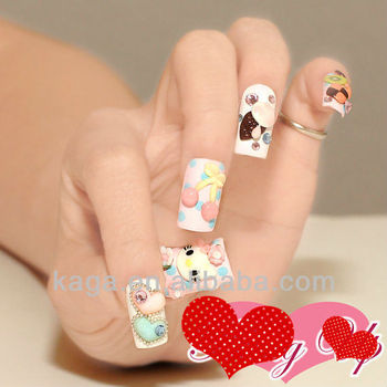 2013 korea nail art hello kitty