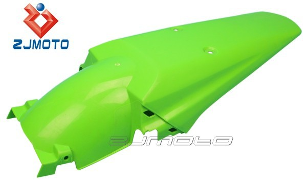 ZJ-104GN Green ZJMOTO motorcycle fairings ABS Plastic Universal Custom Supermoto Mudguards Rear Fender fit for XR 250 R XR 400 R