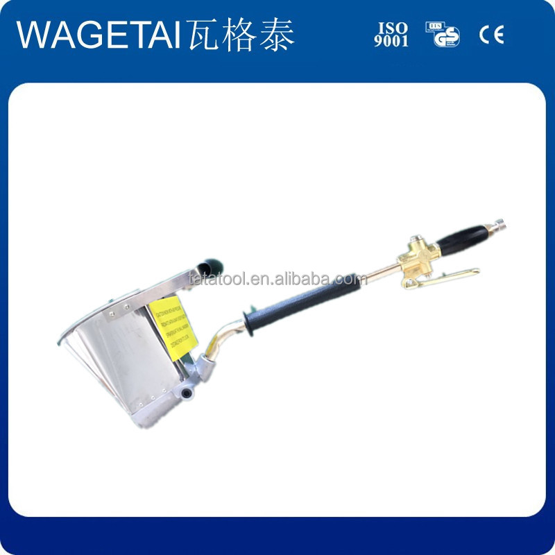 WAGETAI cement paste air hopper gun plaster spray air stucco spray painting wall hand tools spray gun