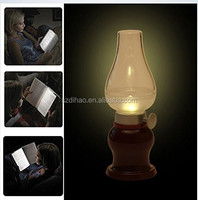 DIHAO Generic Rechargeable Dimmable Blowing Control LED retro Kerosene Lamp