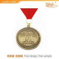 Made in china metal finish russia figure skating award medal