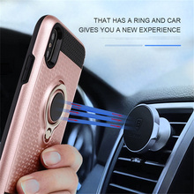 Durable magnetic car use metal ring holder phone case design for iphone 5 5s SE