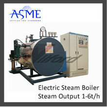 Horizontal induction electric boiler heating