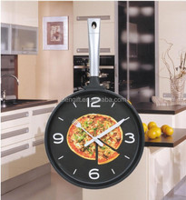 Custom High Quality Metal Pan Wall Clock Kitchen Home Office Cooking saucepan clock kitchen wall clock