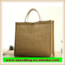 environmental jute shopping tote bag with rope handle linen shopping bag for promotion gift shopping bag R417