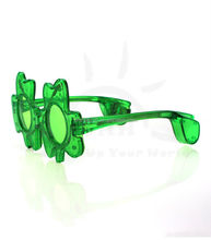 Sparkle LED Colourful Glow Party Club shamrocks LED Flashing party Sunglasses