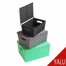 plastic basket with lid W-14127