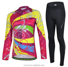 Long sleeve winter cycling clothing women road bike cycle jersey unique colorful stylish cycling wear