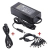ac/dc adapter 12v 8a 96w desktop power adapter 12V 8A 96W Power Supply with with 8-Way Splitter Power cable