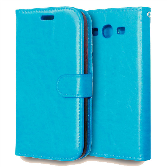 Novel Smart Phone Wallet Style Leather Case with 3 Card Holders Case for samsung galaxy grand neo i9060