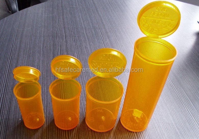 Gold Supplier Pop Top Vials,Orange Pill Bottle