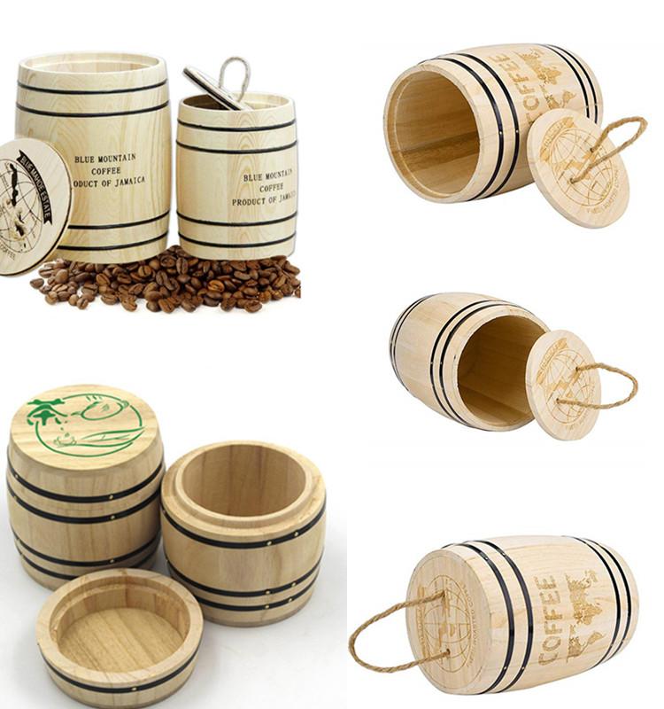 Wood Coffee Mini Bean Small Wine Dispensing Oak Barrel Wooden Barrels
