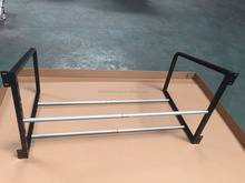 Fold metal powder coated tire storage rack with adjustable length for sale in china factory
