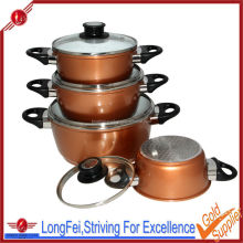 16-18-20-24cm casserole sets ceramic coating nonstick cookware Die cast aluminium cooking pot set
