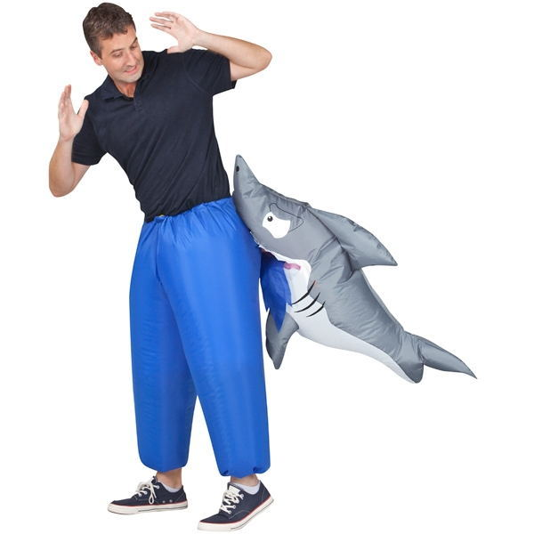 Hot sale shark inflatable mascot party costumes for adult