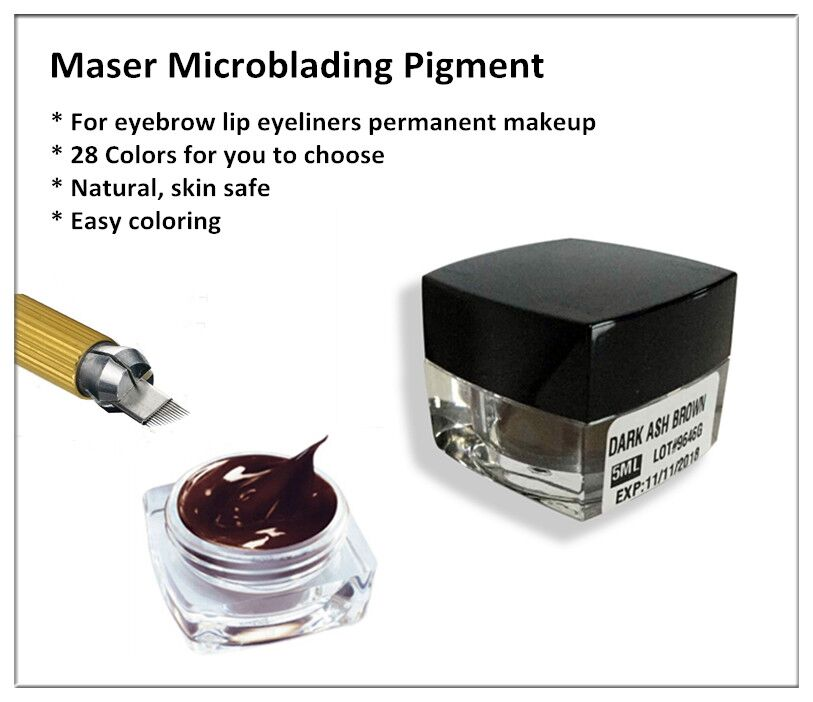 14 colors microblading embroidery 3D permanent makeup eyebrow pigment, tattoo ink