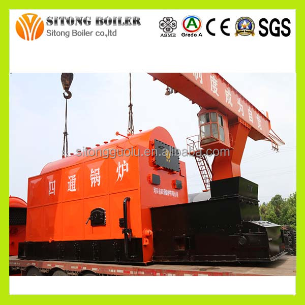 Water Fire Tube 9000 kg/h Steam Coal Boiler Exported to Bangladesh