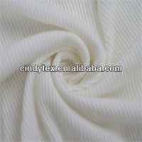 2*2 drpaery soft rib cotton 100% white jersey knit fabric