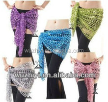 Cheap wholesale belly dance shining belts, sexy beaded belly dance sequin hip scarf (QC0459)