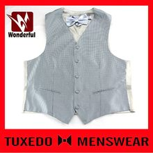 New style branded cheap waistcoat and necktie suit set
