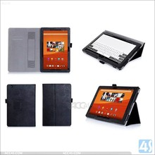 Litchi Grain Folding Stand Flip PU Leather Case For Sony Xperia Z4 Tablet With Handhold