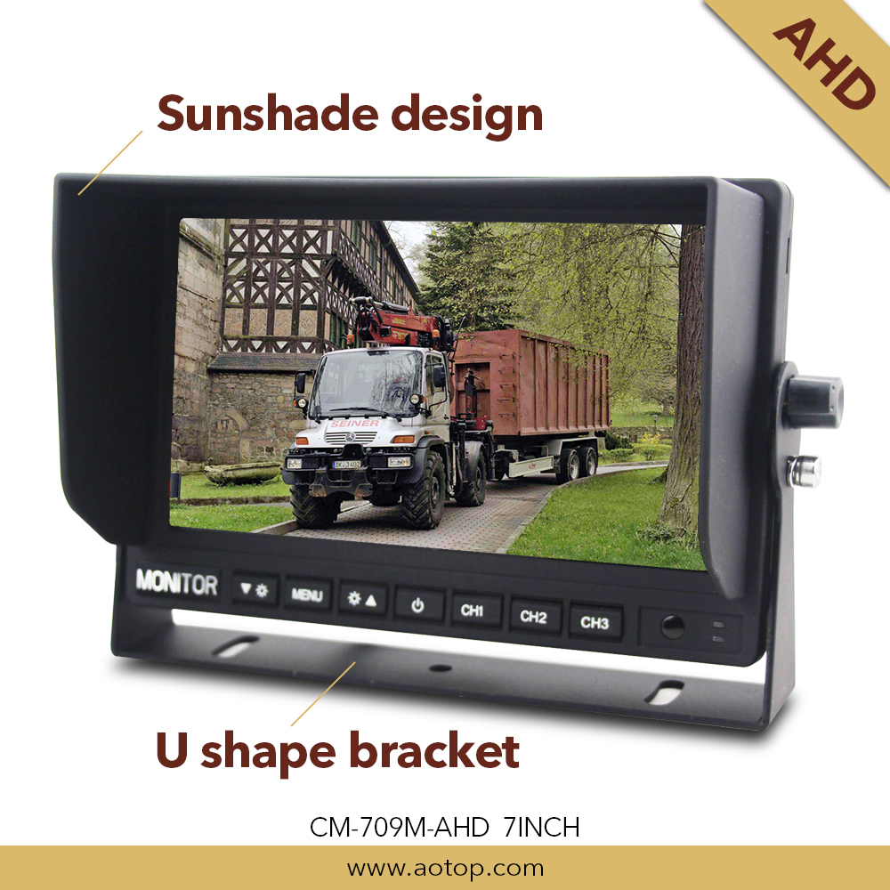Bus / Truck Rearview System with 7 inch AHD car split screen Monitor
