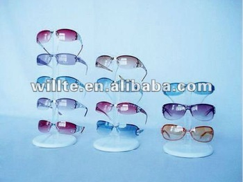fashionable Acrylic glasses display rack sunglasses shelf display