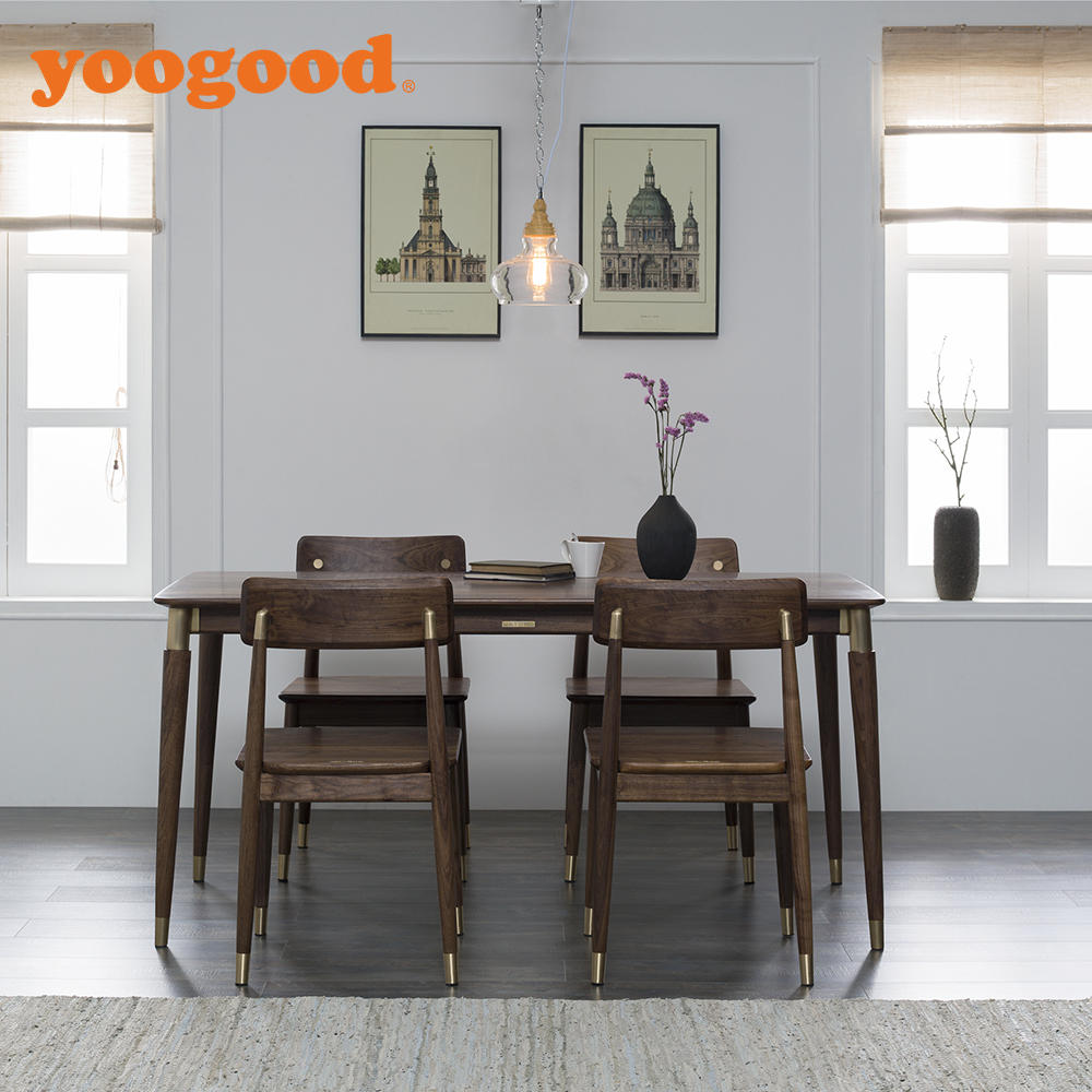 Yoogood Black Walnut Wood Party Tables And Chairs For Sale