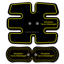 Removable TENS/EMS stimulator massager units to relax muscle