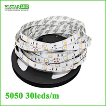 High quality super brightness nonwaterproof IP20 DC12V 36W 10mm width 5m/reel SMD5050 30leds/m 150leds RGB led flexible strip