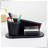 Luxury Leather Handmade Desk Pen Holder