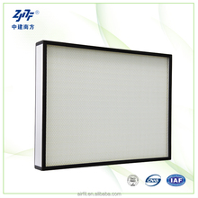 Mini-pleat ULPA filters fiberglass media material Ultra air filter