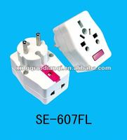 Energy-efficient 2 round pin Travel Plug adaptor 607WL