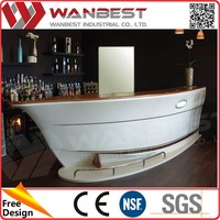White color elegant salon reception desk counter juice Smoothie Bar Counter