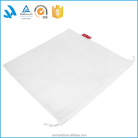 Alibaba trust pass white drawstring pouch bag, cheap non woven dust bag