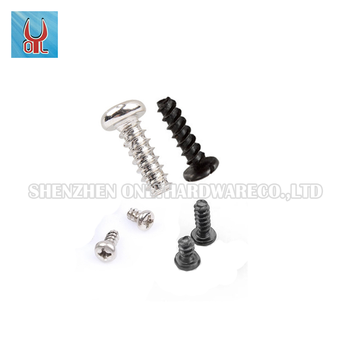 stainless steel cross recessed round head self-tapping screws GB845 DIN 7981 PB