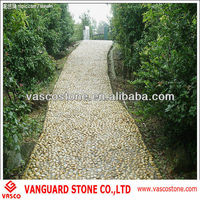 Natural pebble stone walkways