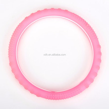 OEM brand hot new pink color silicone car steering wheel cover