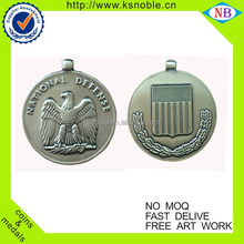 Double embossed custom eagle logo challenge antique coin