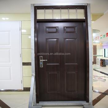 3 Panel Pvc Steel Glass Door With Oval , Pvc Steel Door