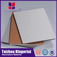 Alucoworld excellent in cushion effect unbroken core water resistant wall panels aluminum cladding for pipe